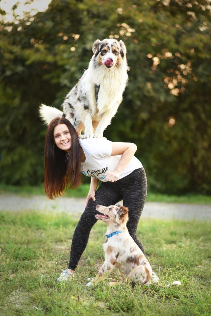 Veronika ajej psy Akim aMerlin