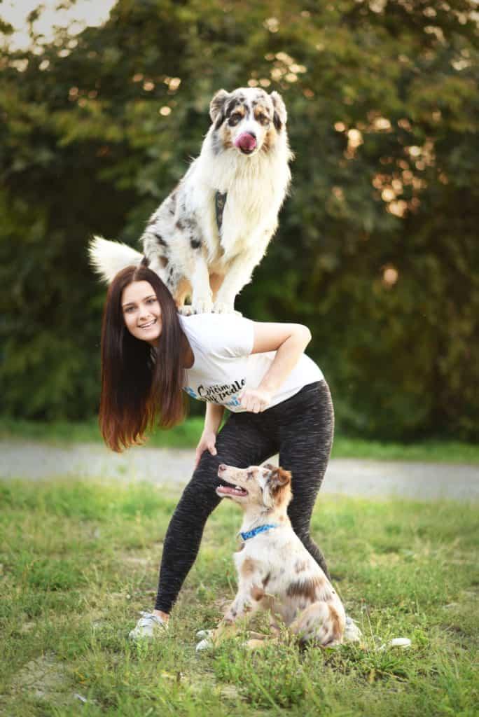 Veronika ajej psi Akim aMerlin